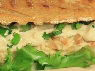Chicken and Hummus Grilled Sandwich -