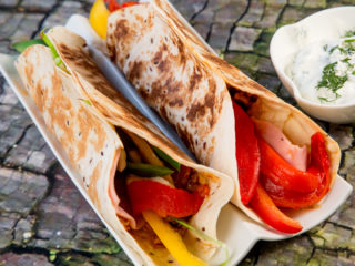 Meat and Veggie Tortilla Sandwich -