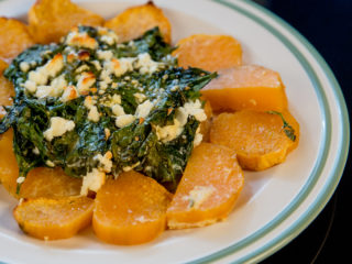 Spinach and Sweet Potato Casserole -