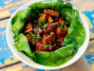 Fried Tofu with Bok Choy -