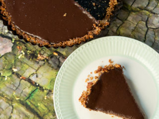 Pretzel-Crusted Chocolate Tart -