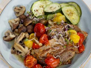 Pork Neck with Roasted Veggies -