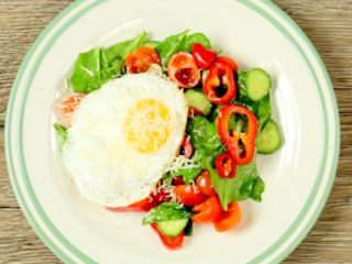 Summer Salad with Fried Egg -