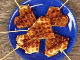 Surprising Chicken Waffles -