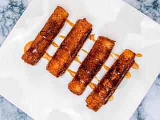 Fried Pumpkin Cheesecake Fingers -