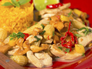 Chicken with Chanterelles and Coconut Milk -