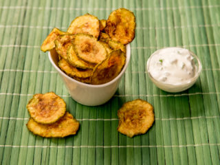 Oven-Baked Zucchini Chips -