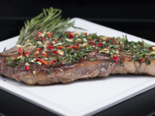 T-Bone Steak with Mediterranean Herb Rub -