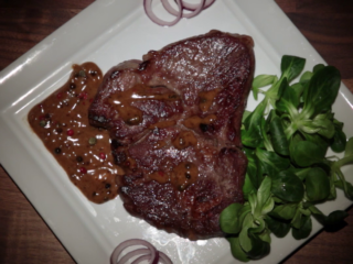Pork Chop Steak with Brandy Sauce