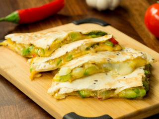 Cheese and Zucchini Quesadilla -