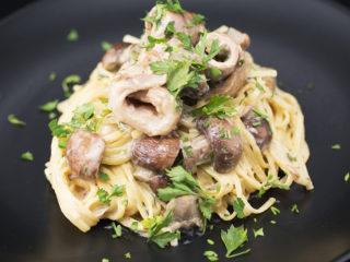 Rabbit Breast and Mushroom Tagliatelle -