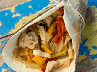 Roasted Chicken and Veggie Wrap -