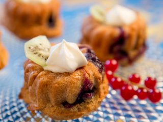 Blueberry Mini Bundt Cakes -