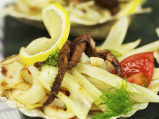 Squid and Baby Octopus Salad -