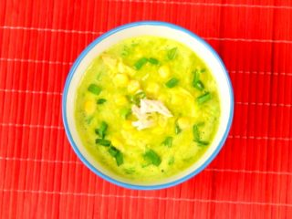 Sweet Corn and Chicken Soup -