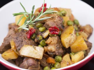 Lamb Stew with Potatoes and Anchovies -