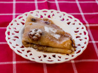 Apple and Walnut Crepes -