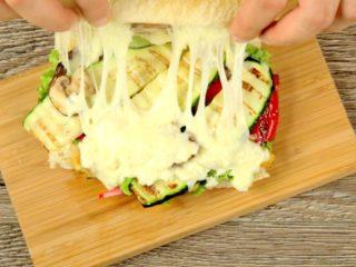 Grilled Veggies and Mozzarella Ciabatta -