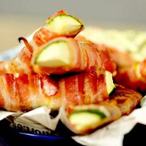 Bacon Wrapped Zucchini Strips -