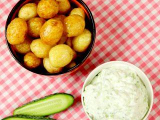 New Potatoes with Tzatziki Dip -