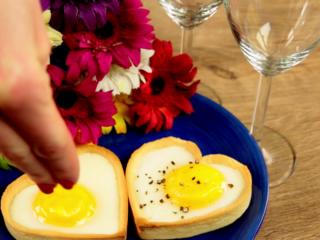Heart-Shaped Egg Tarts -