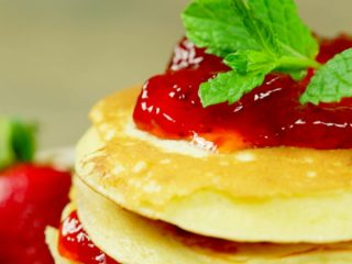 Strawberry Jam Pancakes -