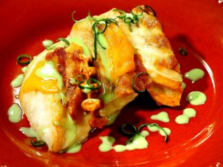 Cheesy Chicken Breast with Mint Sauce -