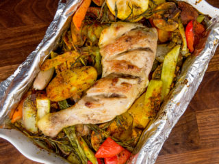 One Pan Roasted Chicken and Vegetables -