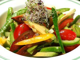 Leek and Avocado Salad with Grapefruit Dressing -
