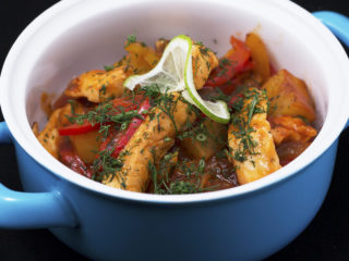 One-Pan Salmon and Veggie Dish -