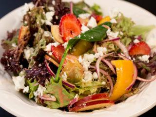 Lettuce Salad with Strawberry Vinaigrette -