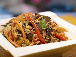 Beef, Veggie and Rice Noodle Stir-Fry -