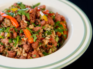 One Pot Rice and Sausage Meat -
