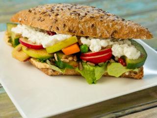 Hummus and Apple Salad Sandwich -