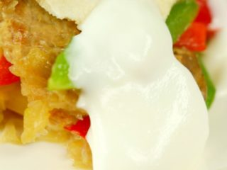 Pork and Onion Tortilla Casserole -