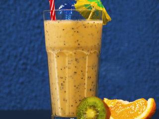 Dragon Fruit and Kiwi Shake -