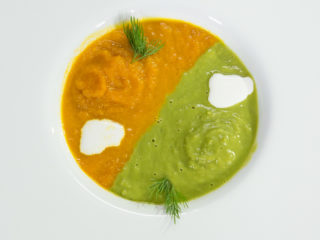 Pea and Carrot Soup -