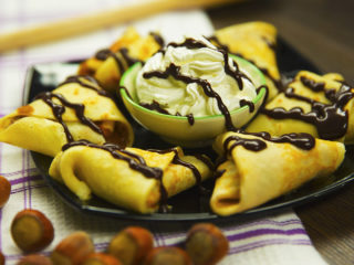 Chocolate and Banana Crepes -