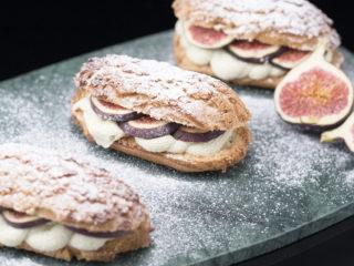 Pistachio Cream-Filled Eclairs -
