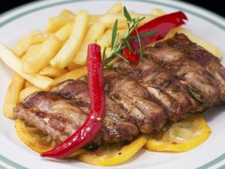 Roasted Pork Ribs with Lemon and Rosemary -