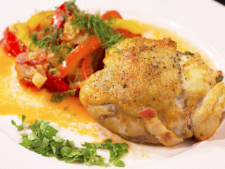 Bacon and Bell Pepper Chicken Stew -