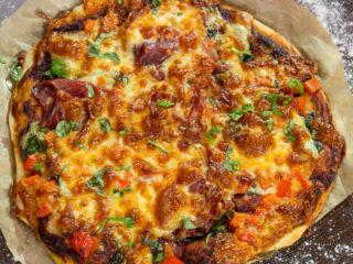 Prosciutto and Emmental Pizza -