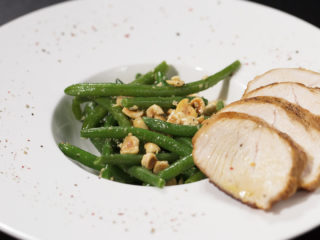 Turkey Breast with Green Beans -