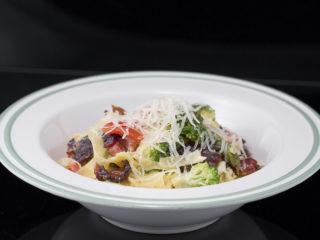 Sausage, Broccoli and Asparagus Tagliatelle -