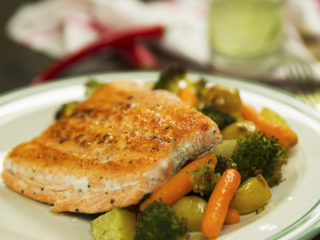 Salmon with Roasted Vegetables -