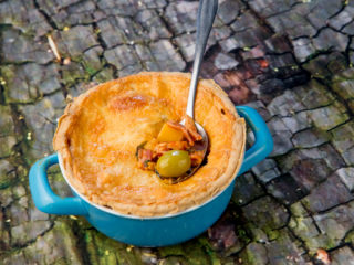 Chicken and Bacon Pot Pie -