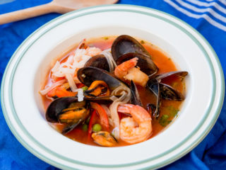 Mussel and Shrimp Thai Soup -