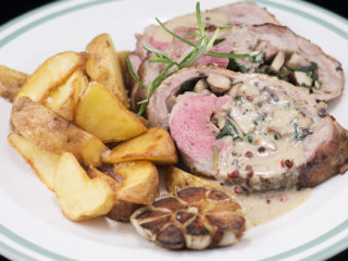 Lamb Roll Stuffed with Mushrooms and Spinach -
