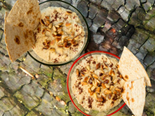 Classic Hummus with Toasted Pine Nuts -