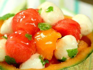 Melon and Mozzarella Salad -